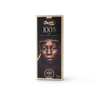 Σοκολάτα Ιταλική 100% κακάο χωρίς ζάχαρη 75gr Zaini Milano