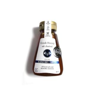 Μέλι πλαγιές Ολύμπου βελανίδι-κάστανο Οικογένεια Αλαμπασύνη 250gr squeeze