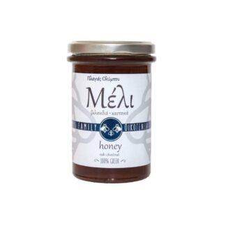 Μέλι πλαγιές Ολύμπου βελανίδι-κάστανο Οικογένεια Αλαμπασύνη 960gr