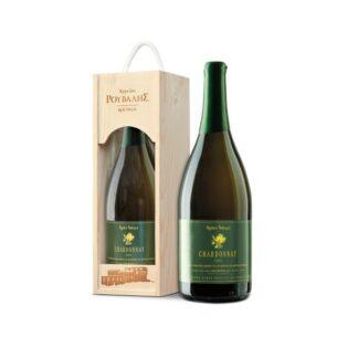 Chardonnay Οινοποιείο Ρούβαλης 1500ml 2011 οίνος λευκός ξηρός