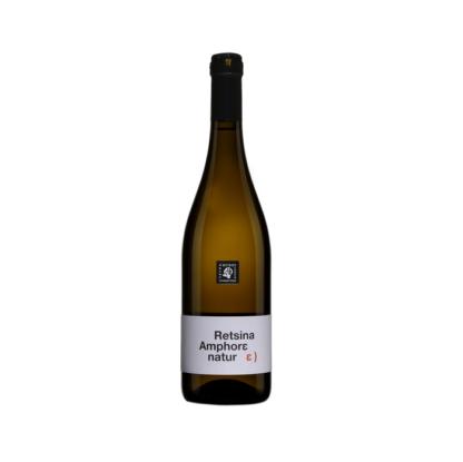 Ρετσίνα Amphore Natur Οινοποιείο Τετράμυθος 750ml οίνος λευκός ξηρός