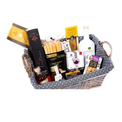 Καλάθι δώρων με ελληνικά μοναδικά προϊόντα